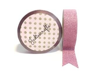 Light Rose Pink Glitter Washi Tape | Pink
