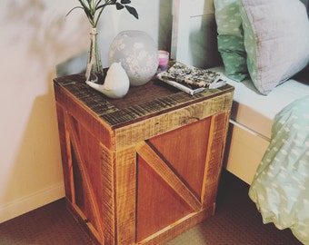 Pallet Tea Chest Side Table - Shipping NOT Included