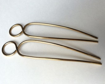 brass twist hairpin