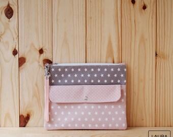 multi-purpose case in Brown and pink / multipurpose case light brown & pink