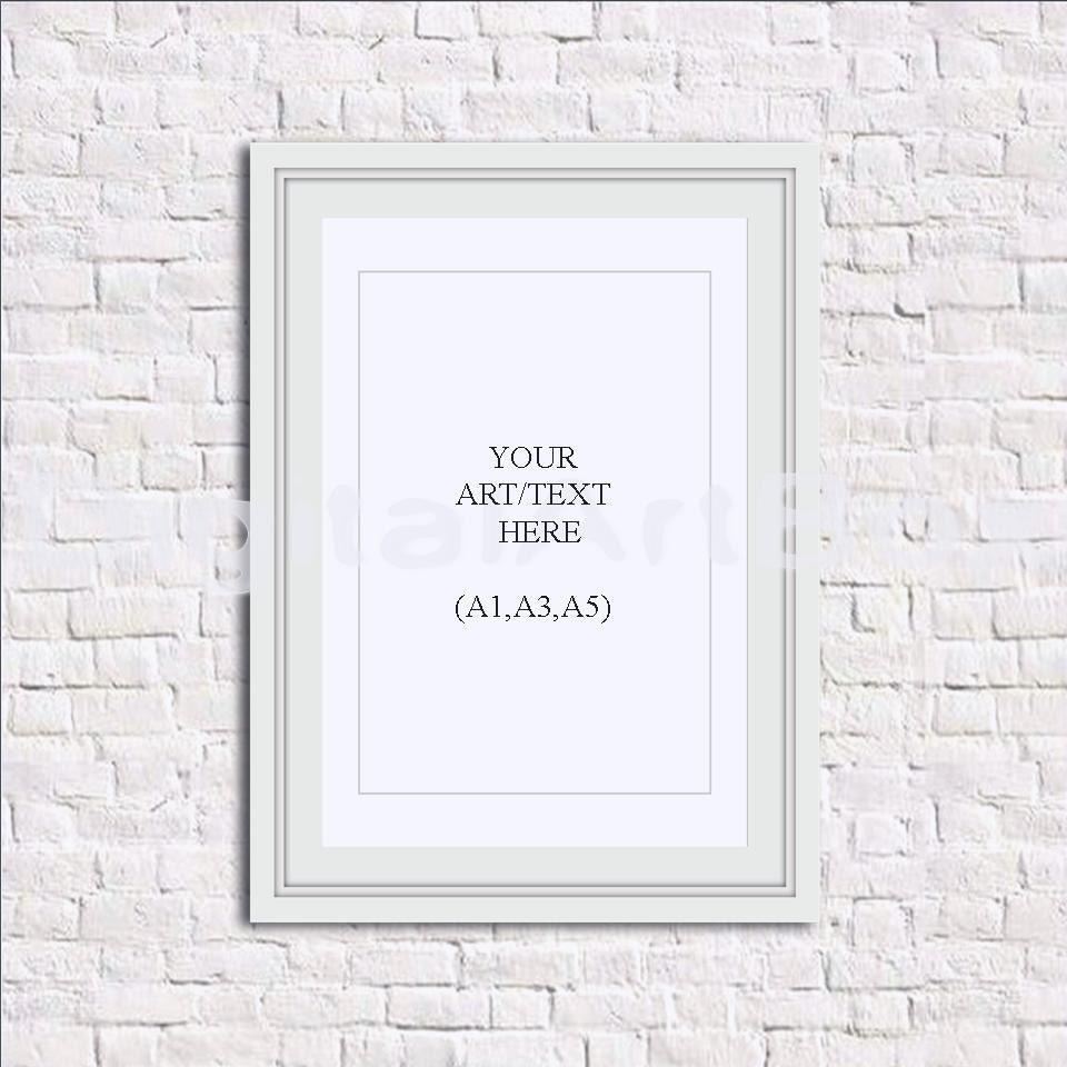 Cartel DIY cuadro A1 A3 A5 marco blanco Vertical Digital