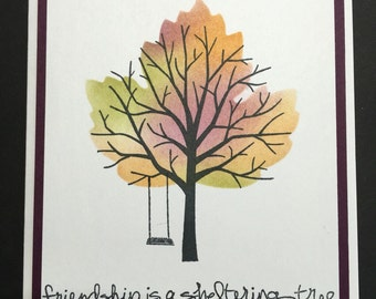 Friendship Sheltering Tree Card