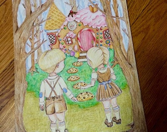 Hansel & Gretel Appoach the Candy House