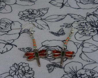 Handmade Silver Dragonfly Earrings