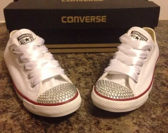 New Bridal Customised Crystal Converse Party Wedding Sizes 3 4 5 6 7 8 9 10 11