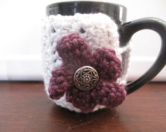 Coffee Cup Cozy w/ Flower