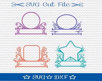 Monogram Frames SVG / SVG Cut File for Silhouette / Monogram svg file / Alphabet svg