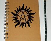 Supernatural inspired pentagram notebook/journal