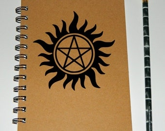 Supernatural inspired pentagram notebook/journal