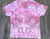 Hand-Dyed T-Shirt - Unisex Womens Mens - Size X-Large - Visitors From Outer Space - Psychedelic Tie-Dye