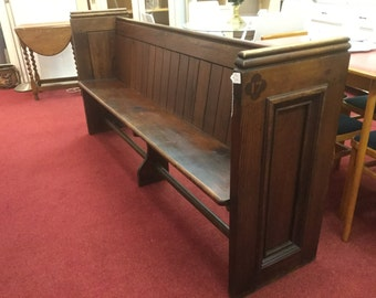 Victorian pitch pine church pew