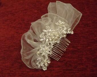 SWEET DREAMS.Pretty Hair Corsage Comb, Organza