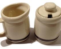 McCoy Creamer and Sugar Set - Vintage McCoy - McCoy Pottery - Antique Sugar and Creamer Sets - Vintage Cream and Sugar Set