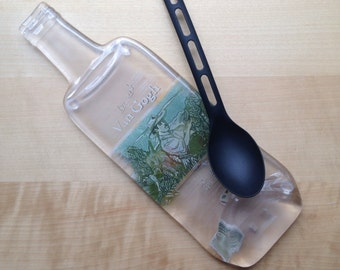 Imperfect Van Gogh Double Espresso Melted Bottle Cheese Tray, Spoon Rest, Beer Gift, Gift for Him, Guy Gift, Hostess Gift, Arty Gift