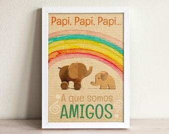 Nursery decor - Nursery wall art - Inspirational nursery - Kids room art - Fathers day gift - Best friends
