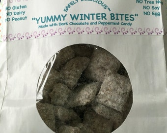 Gluten Free, Peanut Free, Dairy Free, Tree Nut Free, Soy Free Snack; Yummy Winter Bites - 12 oz.