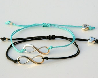 Best friend bracelets for 2-  Best Friends Jewelry-Couples Infinity bracelet-İnfinity with initial-Matching Couple Bracelet-Best friend gift