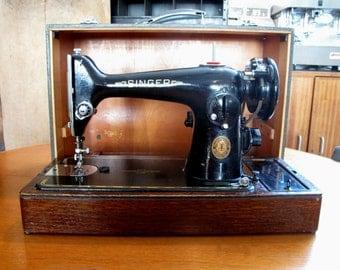 Vintage SINGER 201k Semi Industrial HEAVY DUTY Sewing Machine