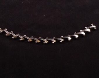 MidCentury Modern Sterling Silver Ball and Bar Bracelet