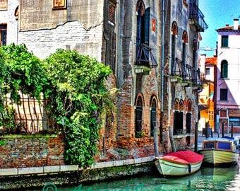 Venice Canal, Venice Italy Art, Venice Gondolas, Venice Photography, Travel Italy Art Print, Living Room Art, Venice Italy Map, Artisanal