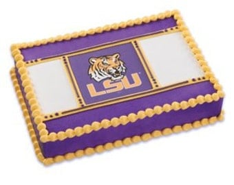 LSU Louisiana State Tigers Edible Cake Topper