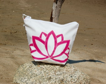 Sunblock Bag -Pink Lotus - Made from Recycled Sail