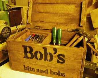Personalised Tool Box made from reclaimed and upcycled pallet wood