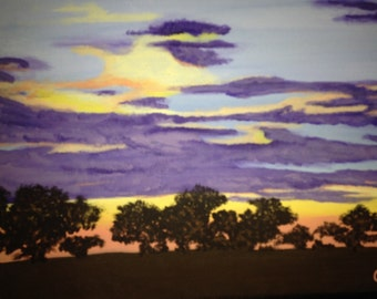 original acrylic on canvas 10x41
