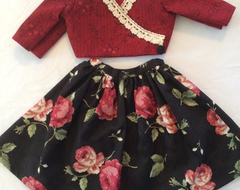 2 piece doll outfit for 18in dolls. Fits American Girl Dolls and others.