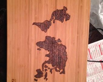 Personalized wood cutting board