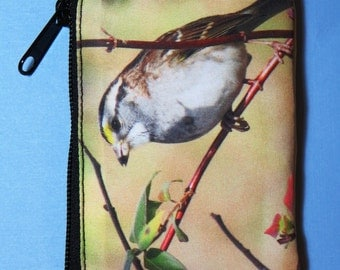 White-throated Sparrow Coin Purse