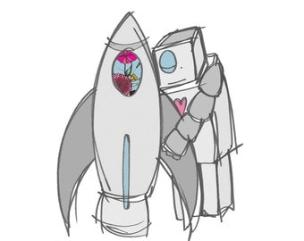 Rocket love, a digital print