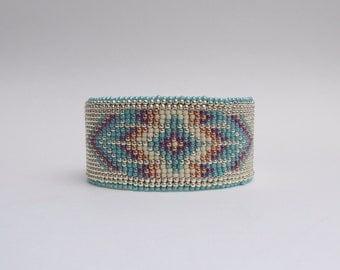 Beaded Leather Cuff - Mapiya