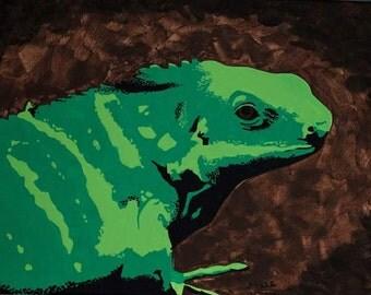 Original Iguana Painting