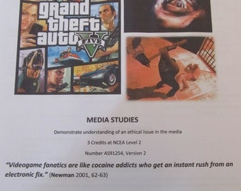 Video Games, Moral Panics and Audience Theory Media Studies lesson resource