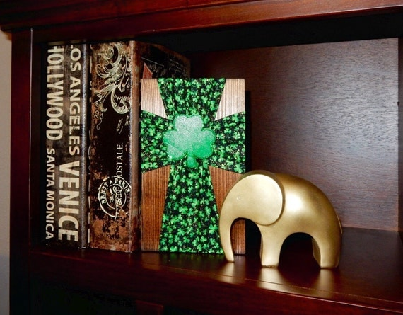Items Similar To Irish Cross With Shamrock Center Irish Home Decor Lucky Clover Ireland Art