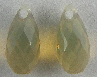 2 11mm Swarovski crystal briolette pendant 6010sandopal