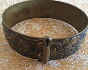 Nouveau bracelet brass cuff vintage bangle boho jewelry Mucha jewelery