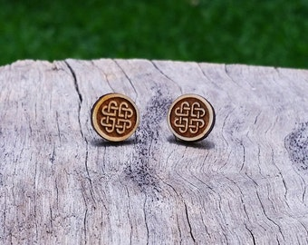 Knot Timber Earrings