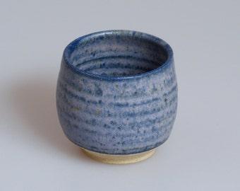 Wheel thrown stoneware tea bowl
