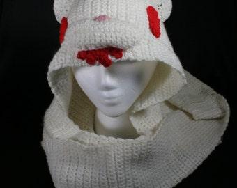 Albino Gloomy Bear Crochet Scoodie