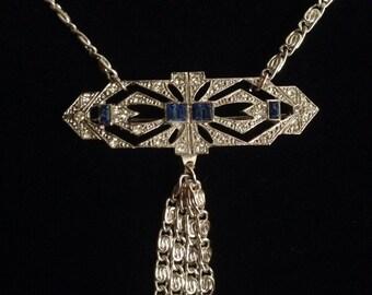 Art Deco Faux Diamond Necklace