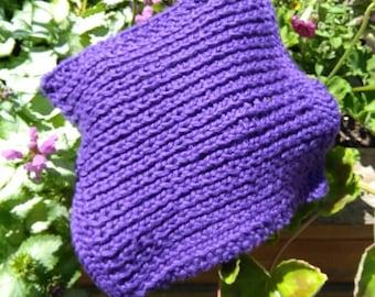 Organic Cotton Washcloth (Purple)
