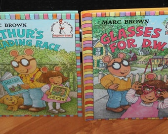 Vintage 1996 Marc Brown Arthur children's hardback illustrated storybooks;Groiler Books;Cartoon character;Animation;Arthur cartoon