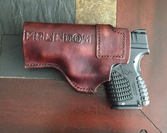 100% genuine leather inside the waistband gun holster for Springfield XDS 9mm and .45ACP