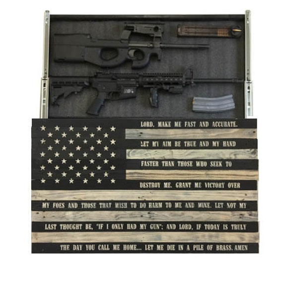 Gun Storage Coffee Table Plans: Gunfighters Prayer Concealment Flag By ProtectYOURshelves
