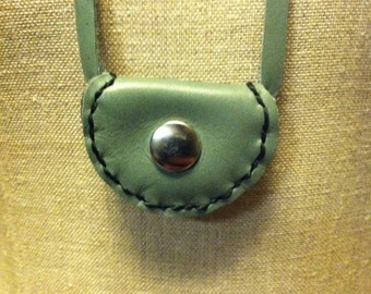 Leather Pouch Necklace - Healing Stone/ Medicine Pouch
