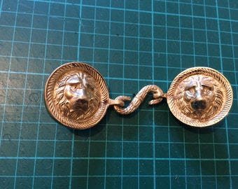 Reproduction British Napoleonic Lion Head Buckle (38mm Strap)