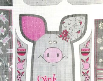 Pig pattern, sewing kit.