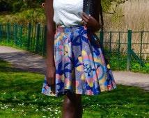Ankara short circle skirt   african print skirt   circle skirt   ankara short skirt   Ankara skirt   summer skirt